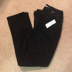 Old Navy Black Curvy Straight Jeans Size 8 short